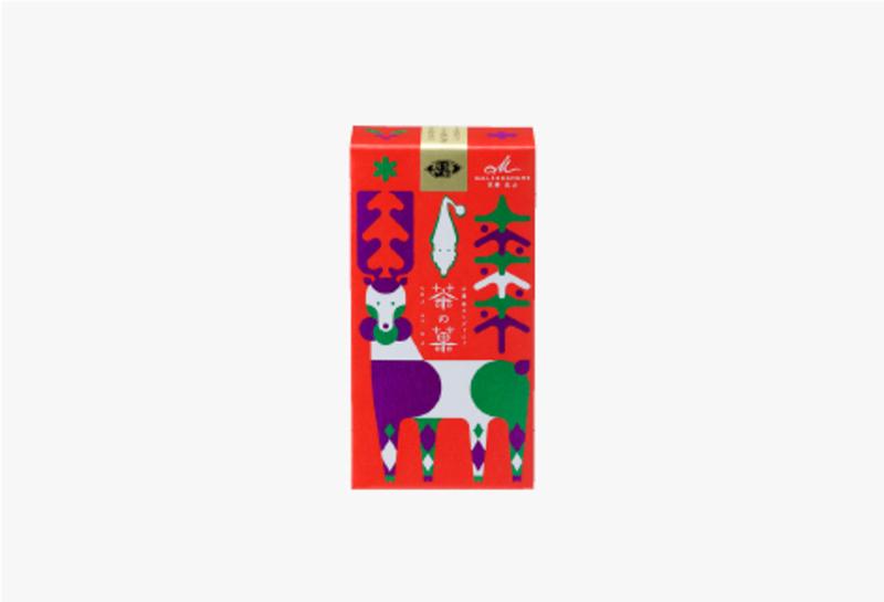 茶の菓 3枚入 クリスマス限定パッケージ[赤]