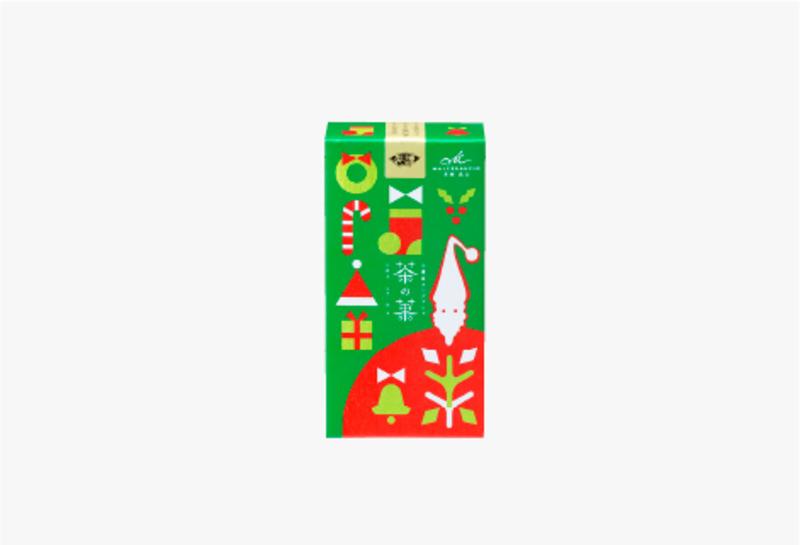 茶の菓 3枚入 クリスマス限定パッケージ[緑]