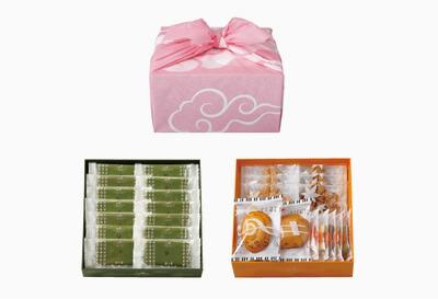 京遊記二段(茶の菓・楽しみかさね)ピンク風呂敷付