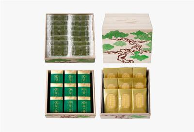 ◆桐箱三段 茶の菓・生茶の菓・黄金焼き