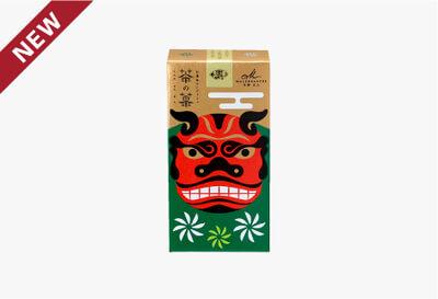 ◆茶の菓 3枚入 お正月限定パッケージ[獅子舞(緑)]